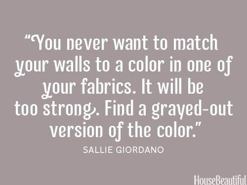Wall paint and fabric ~ decorating