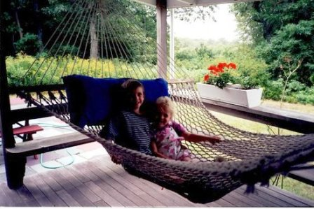 Jack & Alley in hammock Menesha